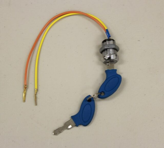 2 Wire Ignition Key Switch Lock Electric Scooter Moped Super Pocket ...