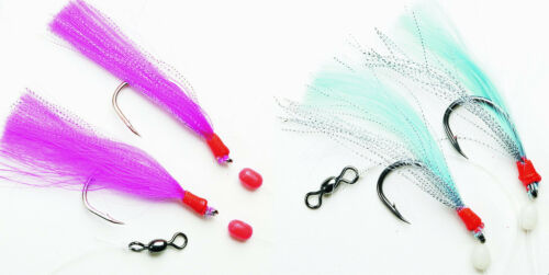 FLADEN Feathers Meeresvorfach Pink oder Blau Großdorsch Haken 8//0 Dorschvorfach