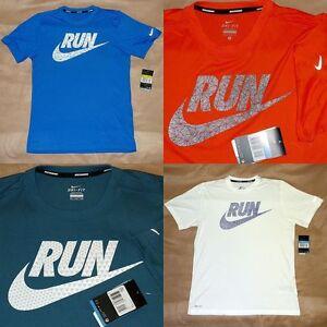 80827a9fd1708b Nike Men's Legend Run Swoosh S/S T-Shirt - S/XL/2XL Blue/Red/White ...