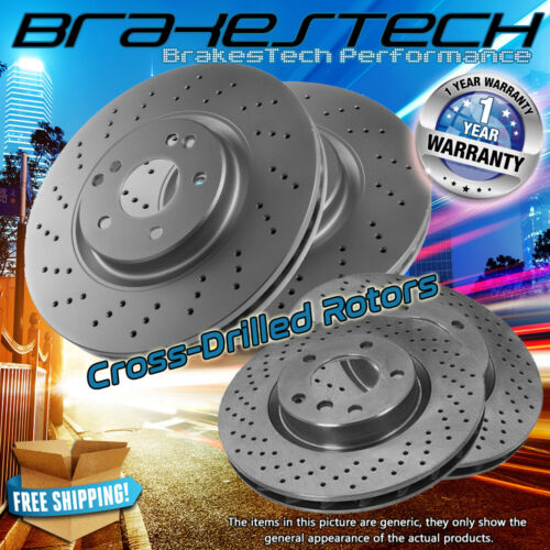 MDX Front and Rear Cross Drilled Rotors for Acura ZDX Honda Pilot