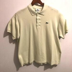 Lacoste-Mens-Crocodile-Short-Sleeve-Lime-Green-Polo-Shirt-Sz-7-XL-Tennis