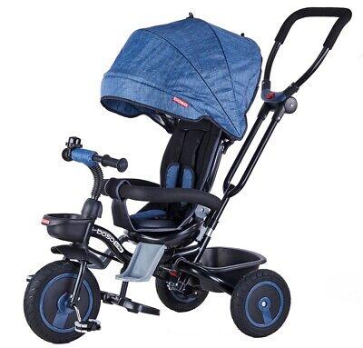 Triciclo Passeggino Pieghevole Con Seggiolino Reversibile 4 In 1 Boso New Blu Ricambio Senza Costi A Qualsiasi Costo