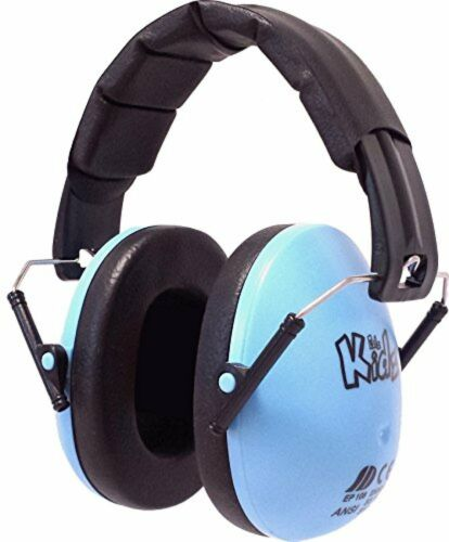 Ear Defenders Kids Toddlers Hearing Protection Folding Noise Reduction Blue New