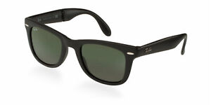 8075b4cd5 New RAY-BAN Folding Wayfarer Sunglass RB4105 601S Matte Black w/G-15 ...