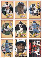 1991 UD Upper Deck Hank Aaron Heroes set - (10 cards)
