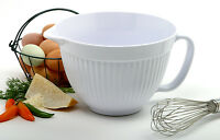 Norpro 1016 White Melamine Mixing Batter Bowl 3 Qt on sale