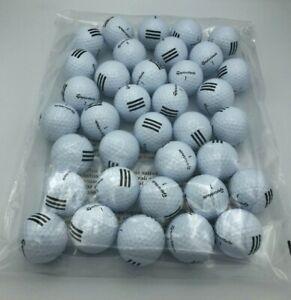 TaylorMade 3 Stripe Golf Balls Burner Soft Distance Control White 3 Dozen New