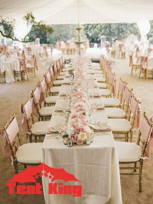 Glass tables, Pheonix chairs, Couches/Pallets, Linen, Cutlery, Crockery, Catering