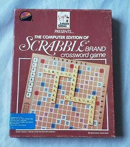 Scrabble-Crossword-Game-IBM-PC-XT-Game-on-3-5-034-and-5-25-034-disk-Complete-in-Box