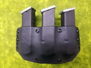 LOOK SUPER NICE LEFT REGULAR BLACK KYDEX DOUBLE MAG HOLSTER TRULY HAND FITTED