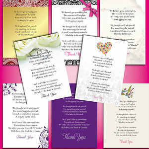Pack-of-10-x-A7-Cards-RSVP-Info-Poem-Cards-for-any-design-amp-any-wording