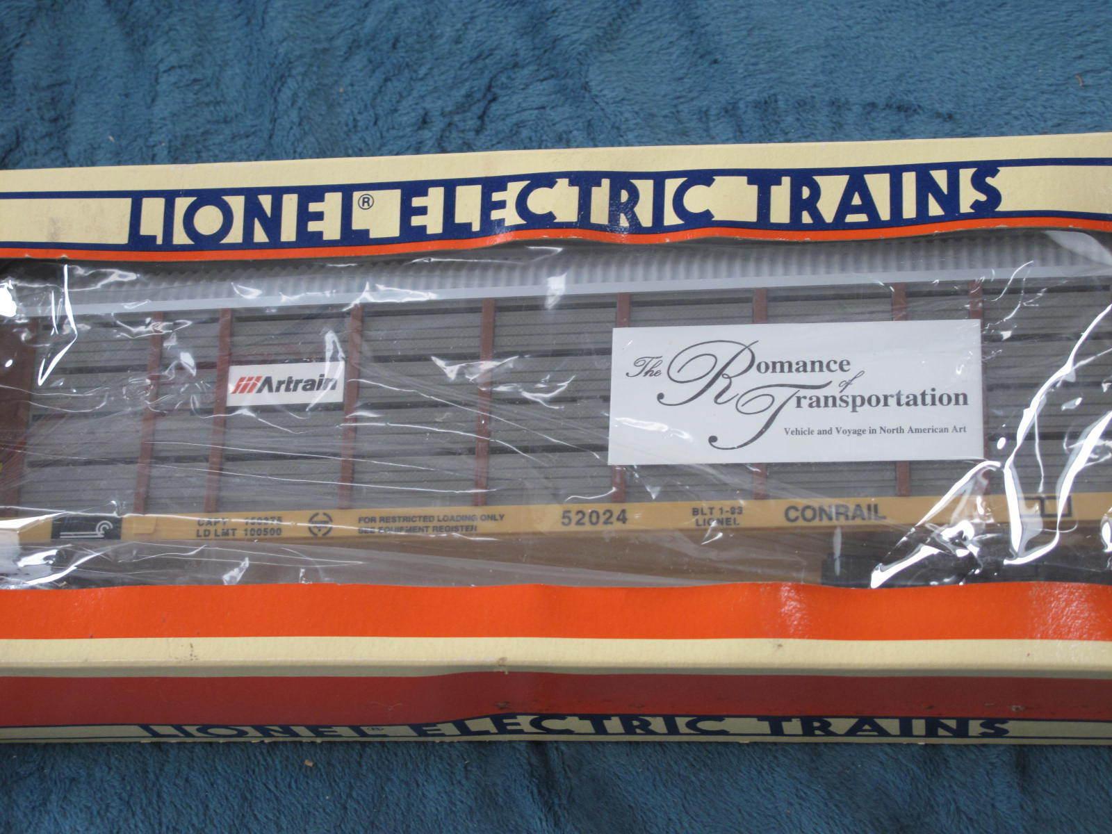 1993 Lionel 6-52024 Artrain Commemroative Conrail Auto Carrier NIB L1871