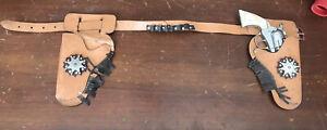 RARE 1950's Kilgore Roy Rogers Leather Holster Set w/ Gun