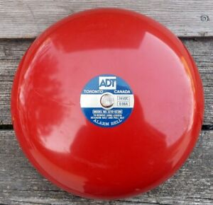 ADT-Red-Fire-Alarm-Bell-Model-3210-023M-24VDC-0-06A-Rings-Like-There-039-s-a-Fire