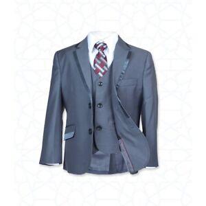 brand new f41da 74c70 Dettagli su Abito vestito bambino paggetto completo elegante pantalone  giacca gilet panciot