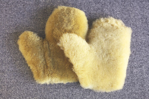 winter projects 4 piece sheepskin hide MITTENS pattern for sewing quilting