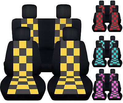 CC  fits Jeep YJ-TJ-LJ Front and rear  CAR SEAT COVERS cotton solid 23 colors