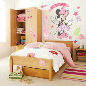 Cute-Minnie-Mouse-Wall-Stickers-DIY-Kids-Girls-Bedroom-Decor-Mural-Vinyl-Decal