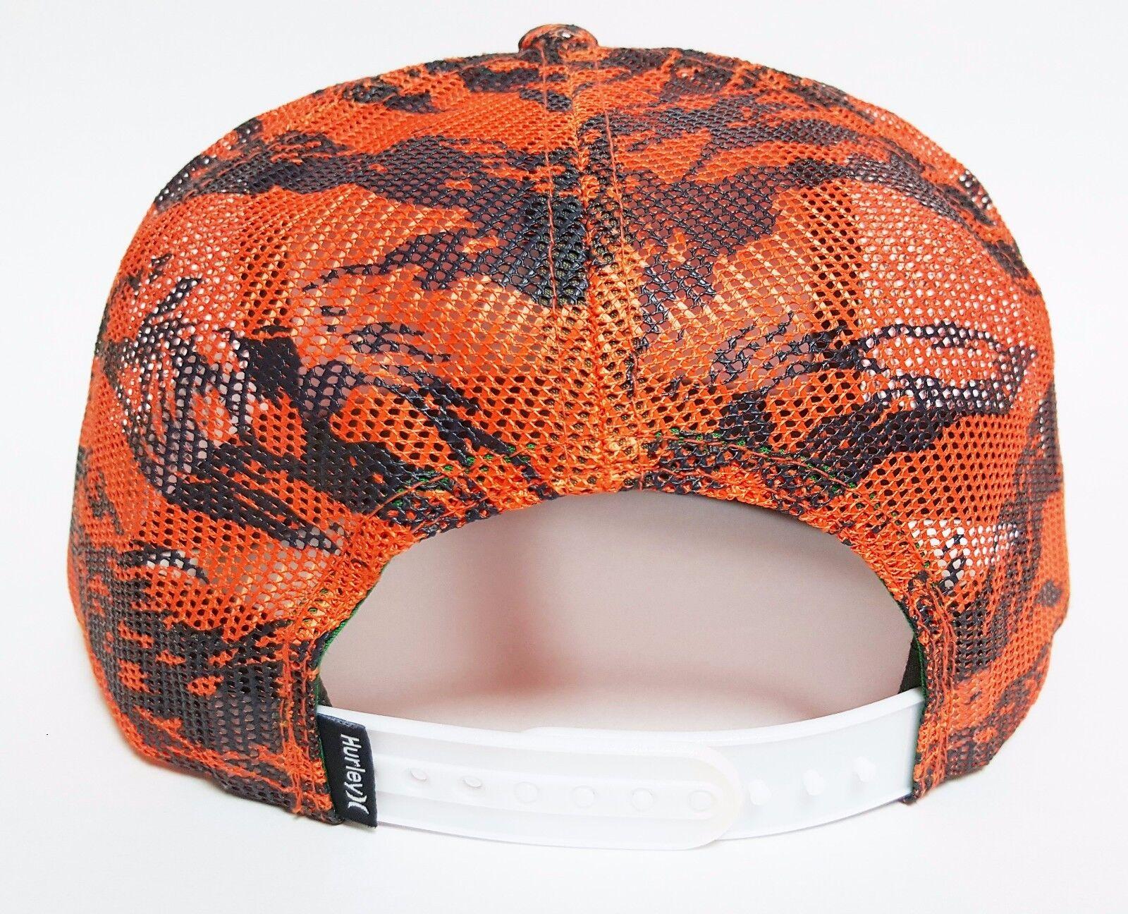 559bac1c4e8 Hurley KRUSH Mesher Snapback Hat Orange OSFA ( ) All-mesh Skate Camo Cap  for sale online