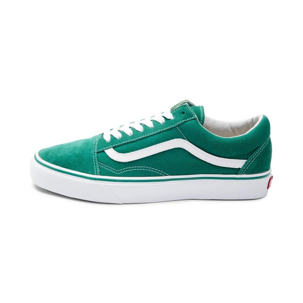 New Vans Old Skool Skate Shoe Ultramarine Green Suede Canvas Womens Shoes