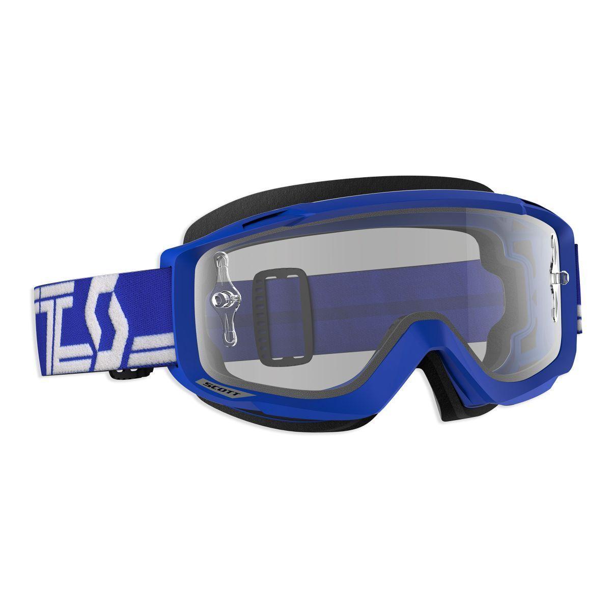 Scott Split OTG MX Goggle Cross Cross Cross MTB Brille blau klar works d86896