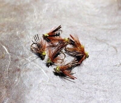For Fly Fishing,Trout Buzzers,Trout Hoppers 3 Black Midis Trout Flies Wet Fly