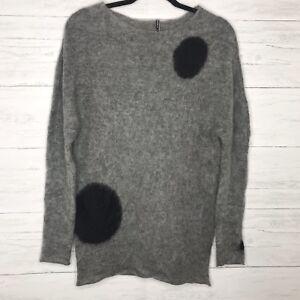 Gris tricot d'Alapaca pois Conti à Mohair noir en Pull Liviana en qRzFtIR
