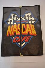 "LAS VEGAS NASCAR CAFE MENU Tri-Fold as seen on MAN vs FOOD 11 x 15"" circa 2009"