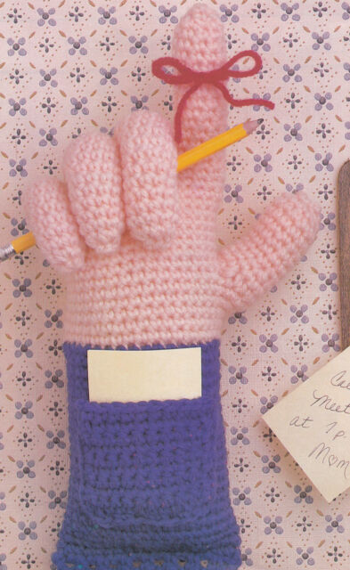 Crochet Pattern ~ Hand Memo Reminder ~ Instructions