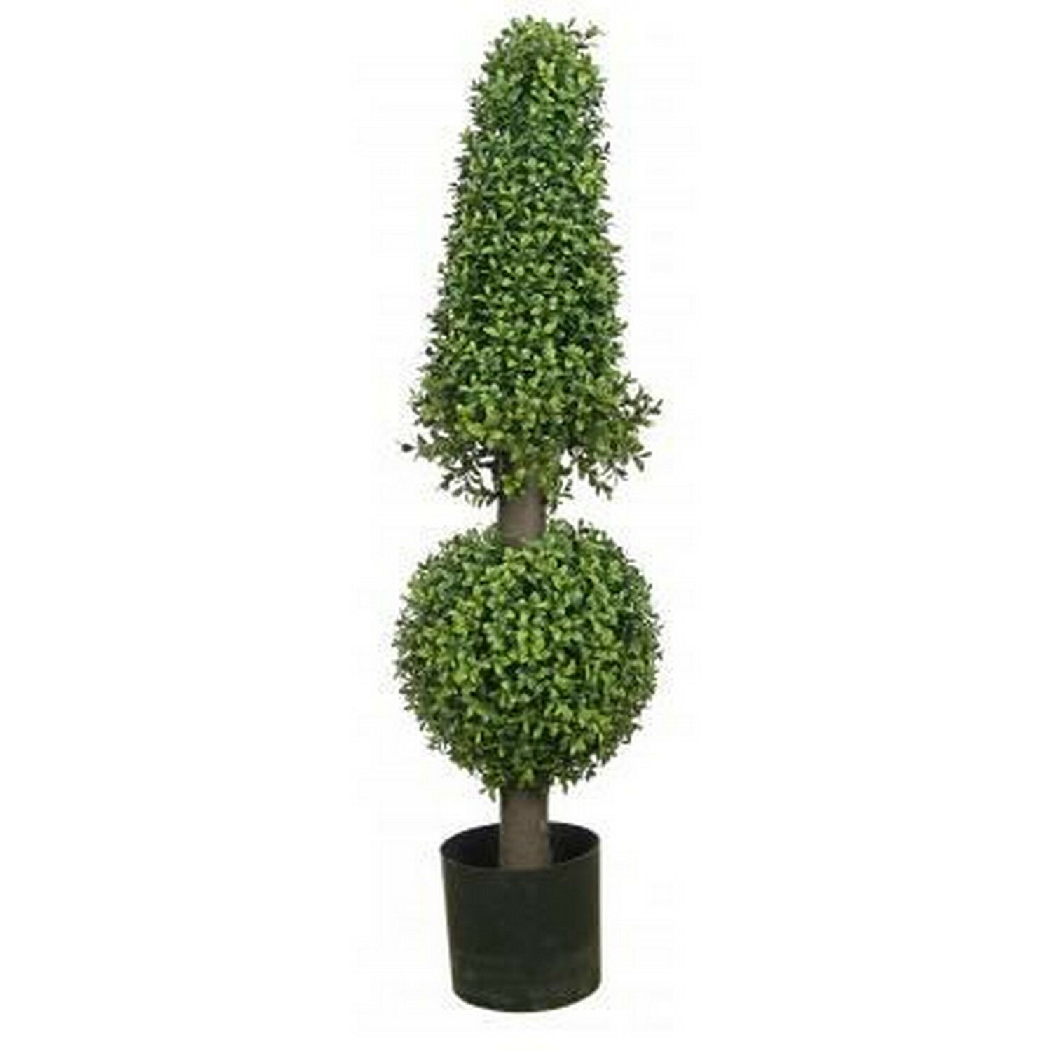 38  Artificial Boxwood Cone Ball Topiary UV Tree Potted 3 4 Outdoor Rated Porch