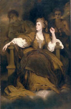 Beautiful Oil painting Joshua Reynolds - Mrs. Siddons as the Tragic Muse canvas