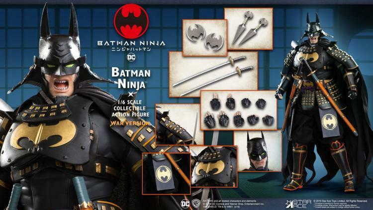 ster Ace speelgoeds 1 6 Batman Ninja Solider Figuur War Ver.SA0065 AcBinden Lichaam gift