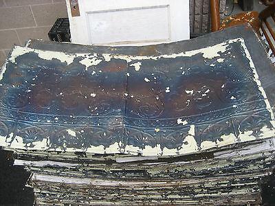 """GORGEOUS antique VICTORIAN tin ceiling pressed FLEur de lis pattern 24.75 x 48/"""""""
