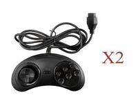2 X Sega Genesis 6 Button Controller Game Control Pad joystick joy stick arcade