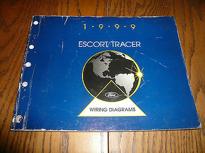 1999 Ford Escort Mercury Tracer Wiring Diagrams - OEM | eBay