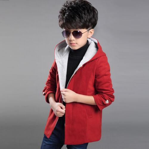 Children Boys Kids Winter Duffle Coats Thick Hooded Jackets Outwear Windbreaker