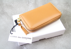COMME-DES-GARCONS-Wallet-New-Brown-Wallet-Textured-Leather
