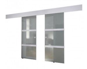 Stock photo  sc 1 st  eBay & Double Sliding Doors Space-saving Modern Bright Translucent Glass ...