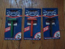3 Wilkinson Sword CLASSIC Double Edge Razor + 1 Blade each Old Stock