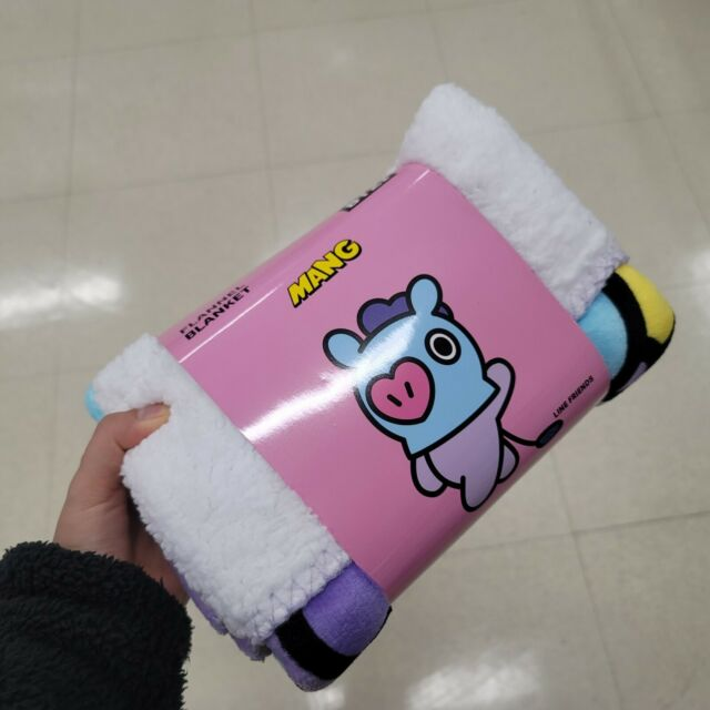 MANG BT21 Official Authentic Goods Flannel Blanket