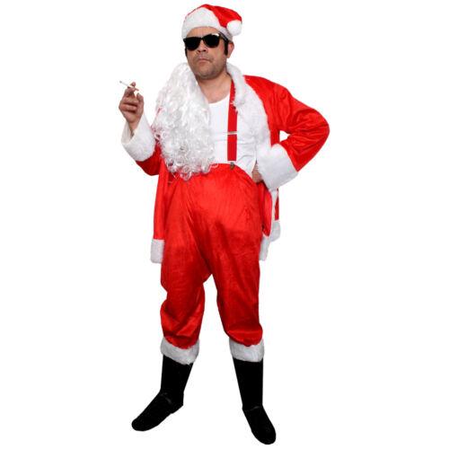 ADULT STANDARD NAUGHTY SANTA COSTUME BAD SLEAZY MEN FATHER CHRISTMAS FANCY DRESS