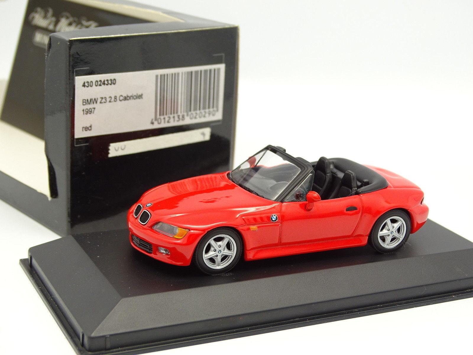 Minichamps 1 43 - BMW Z3 2.8 2.8 2.8 Cabriolet 1997 red 108b90