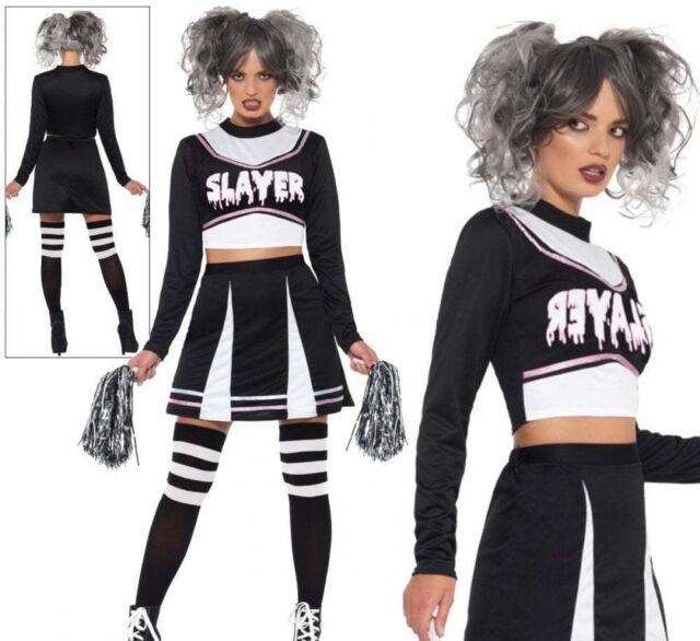 Pom Poms Sizes 4-14 Ladies Cheerleader Fancy Dress Costume