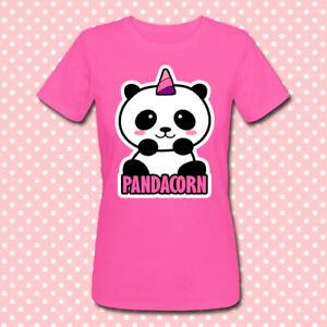 Panda unicorno kawaii T-shirt donna divertente Pandacorn fucsia!