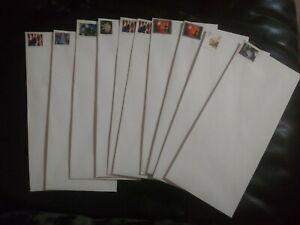 """10 #10 White Woved Security 4 1/8"""" X 9 1/2"""" Gummed Forever Stamp Envelopes"""