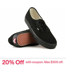 Vans Authentic Black Black Classic Skate Board Shoe