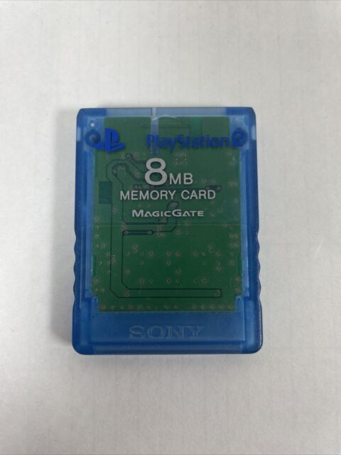 Genuine Blue Magic Gate PS2 Memory Card PlayStation 2 8MB Sony