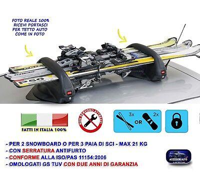 Sporting Goods Other Downhill Skiing Porta Sci Tetto Auto Per Snowboard Portasci Chiavi Antifurto Universale Magnetic Selling Well All Over The World