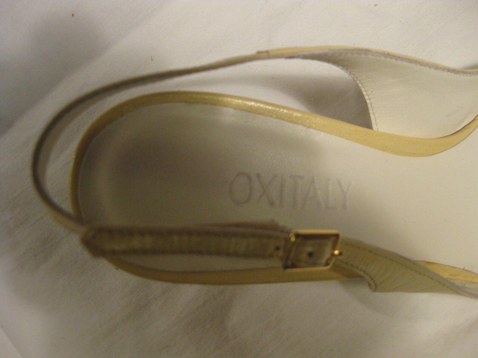 Oxytaly  Sz Pointed Toe Slingback Pumps Sz  39.5 488050