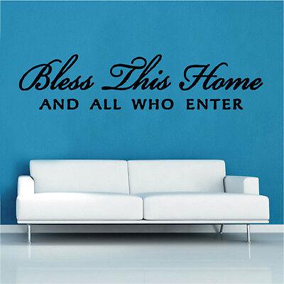Questo Benedica Home Design 4 Decalcomania Muro Adesivo 40 Cm X 175cm- Prestazioni Affidabili